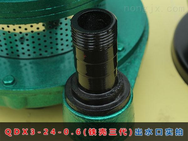 QDX3-24-0.6(铁壳二代)出水口实拍