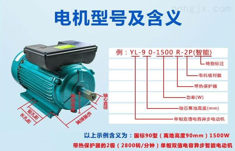 YL-90-1500R-2P(智能电机)型号的含义